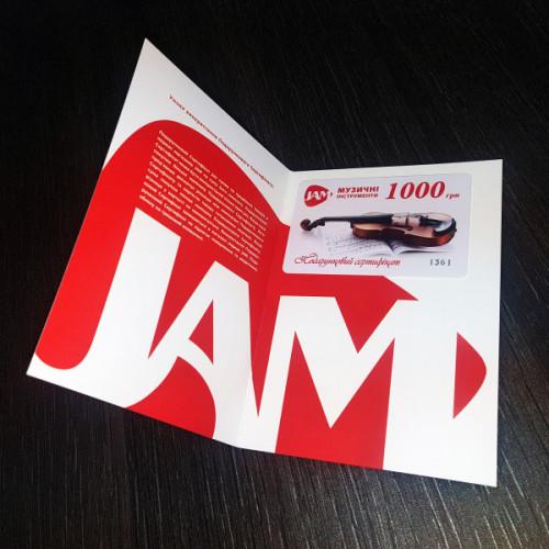 Подарунковий сертифікат JAM 1000грн