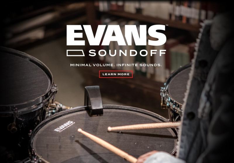 Барабанные пластики Evans SoundOff