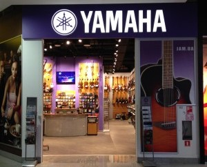 Музыкальный магазин Yamaha / JAM Днепропетровск ТРЦ Мост-сити