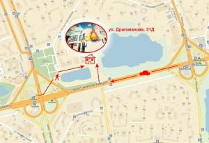Карта проезда музыкальный магазин Джем ул. Драгоманова 31Д