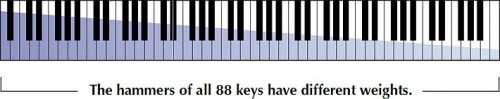 Yamaha 88-key Linear Graded Hammer