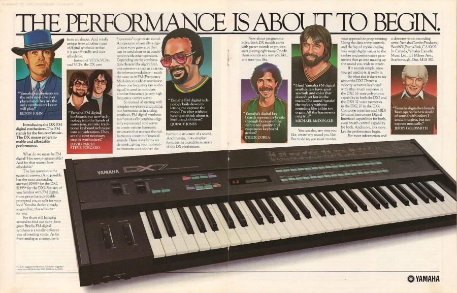 Yamaha DX-7 promo 1983