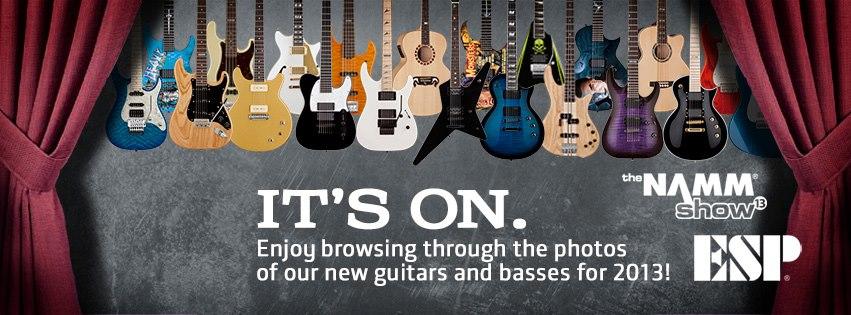 ESP Guitars NAMM 2013