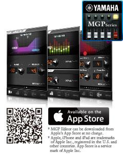Yamaha iOS MGP Editor