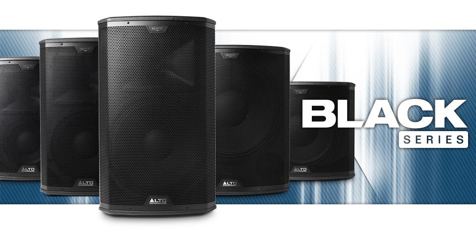 Alto Professional Black Series акустические системы и сабвуферы купить