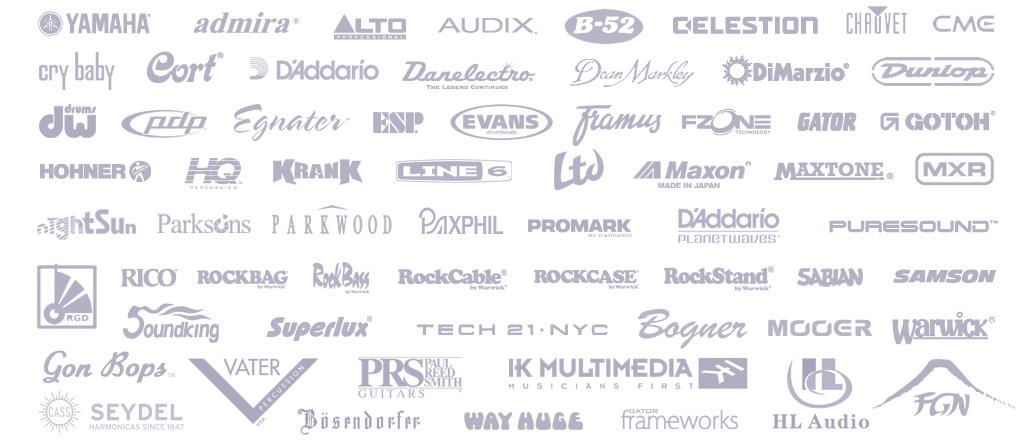 JAM музыкальные инструменты, наши бренды